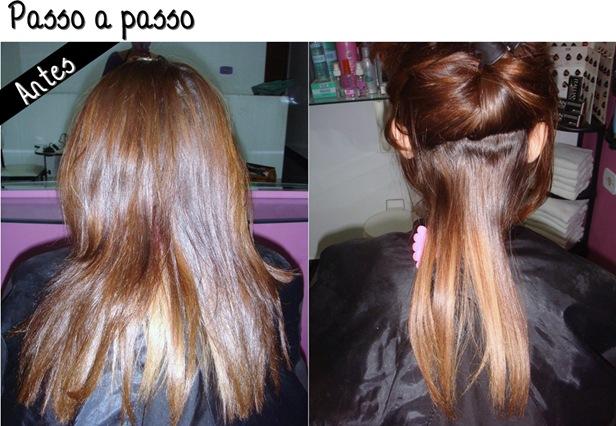 consertando a cor do cabelo