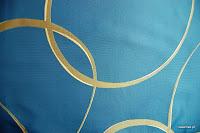 """Luksusowa tkanina typu """"tafta"""". Na zasłony, poduszki, narzuty, dekoracje. Dwustronna. Niebieska."""