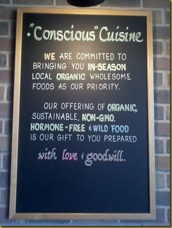 conscious cuisine sign