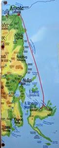 Meganisi Leftkada Map