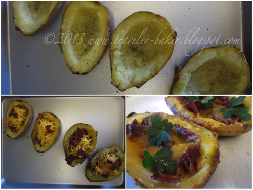 Barchette di Patate con Cheddar e Bacon 2