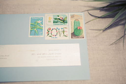 The envelopes were decorated with beautiful postage stamps.