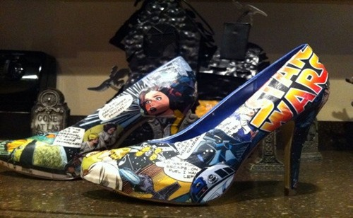 Star Wars High Heels from FeedMyCraftAddiction on Etsy