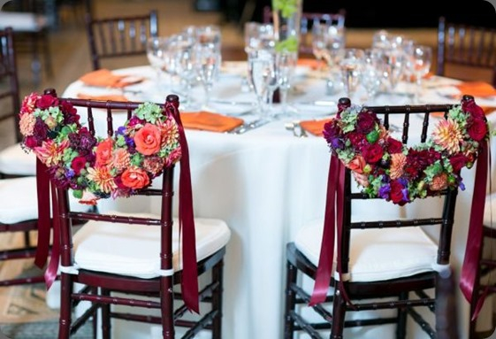 chair backs orange-burgundy-purple-and-chartreuse-chair-garlands-Portland-Art-Museum-Françoise-Weeks jessica hill photo