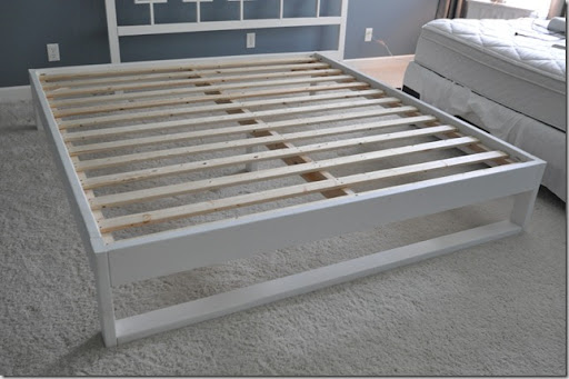 Simple Bedframe Tutorial Decor and the Dog