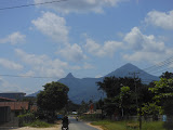 Bukit Jempol (thumb hill) seen from the road between Singkawang and Gunung Bawang (Dan Quinn, March 2013)