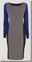 Colour Block Knit Dress