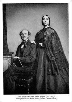 John Stuart Mill,1806-1873,  e a sua esposa Helen Taylor