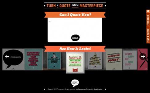 Recite, aplicación online para diseñar citas o frases