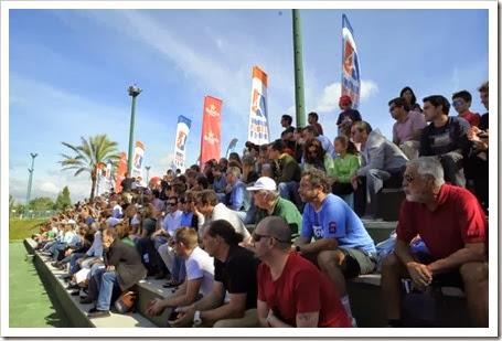 gran respuesta del público que colmó las instalaciones del Lisboa Racket Center en las fases finales