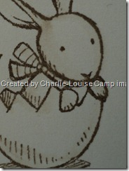 charlie camp stampin up everybunny convention swap close up