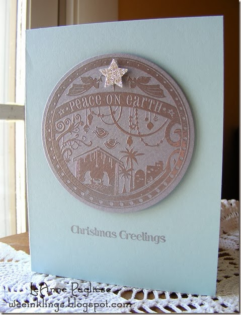 LeAnne Pugliese WeeInklings Wonderful Blessing Christmas Card Stampin Up