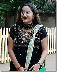 Bhama in black dress