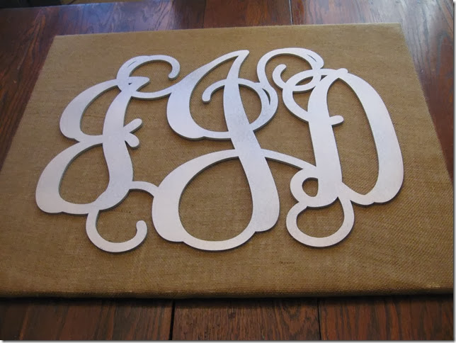 burlap monogram canvas 013