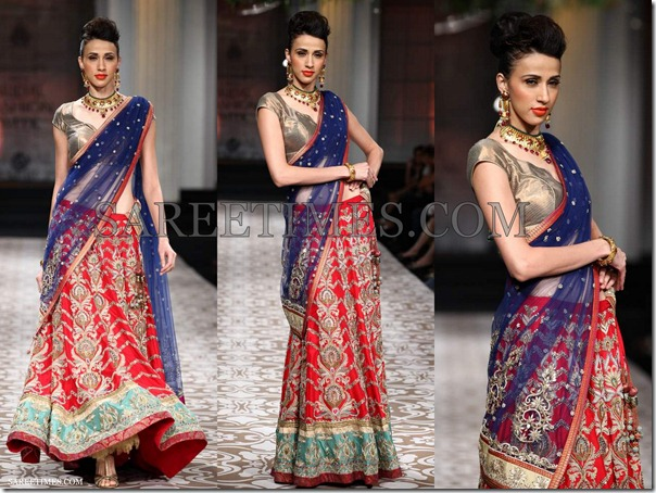 Azva_Blue_Red_Saree