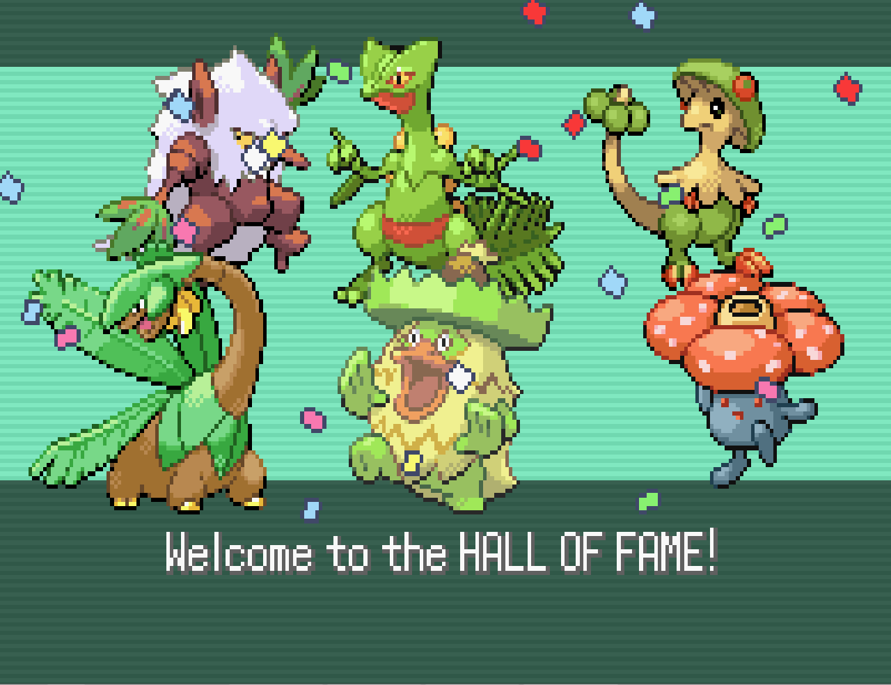 Gba World My Pokemon Hall Of Fames