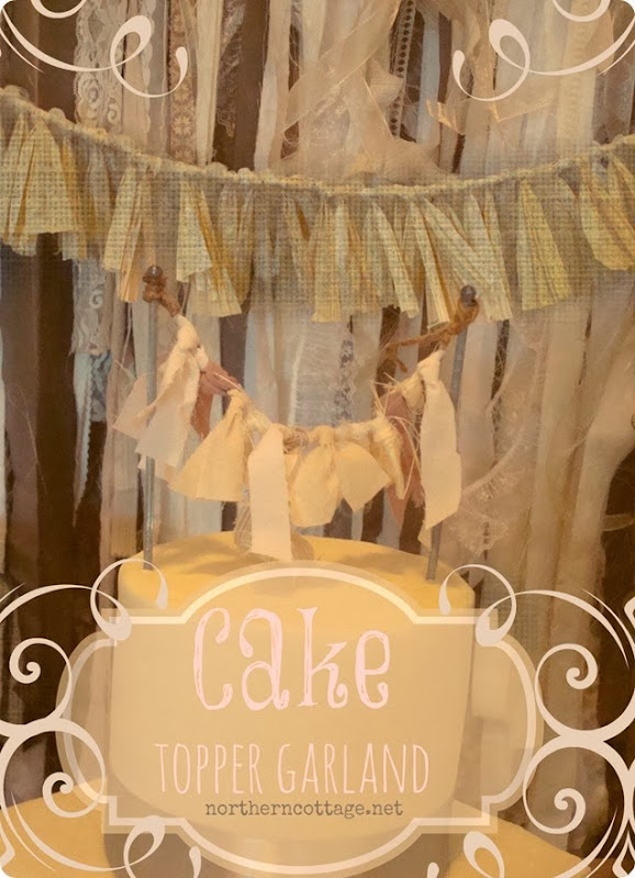 Pretty Cake Topper Garland {Northern Cottage}