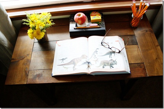 friday feature--farmhouse desk with aged finish from being brooke blog