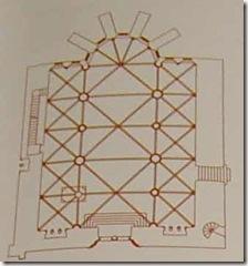 Planta de la iglesia de Roncesvalles