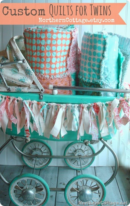 Custom Crib Quilts for Twins! {NorthernCottage}
