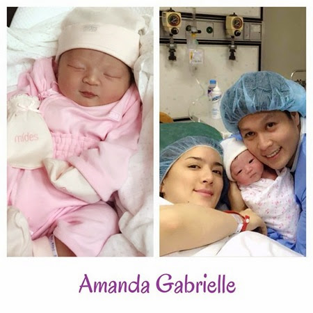 Ara Mina gives birth to Amanda Gabrielle