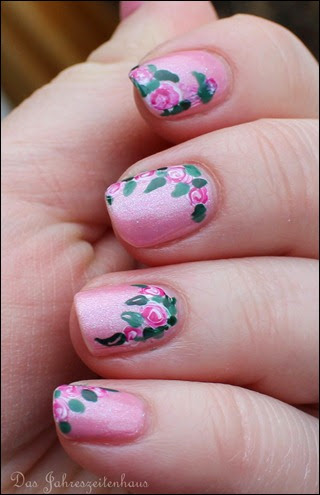 00 Roses in Bloom Nail Art Rosen Blüten Rosa 7