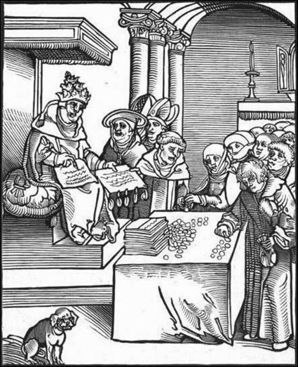 Antichrist o papa vendendo indulgências