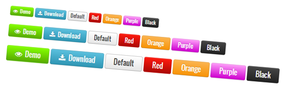 CSS3 buttons Shortcode