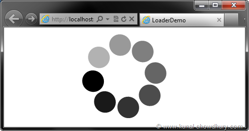 Loader Demo - Showing Demo of the Loader Control