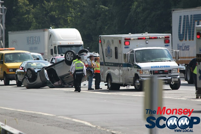 Overturned Vehicle On NYS Thruway  Near Toll Plaza (Moshe Lichtenstein) - IMG_5793.JPG