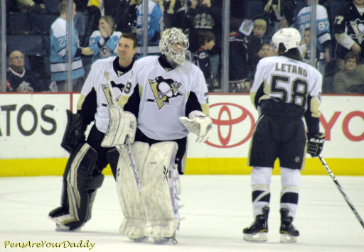 Tanger and Fleury celebrate the win.