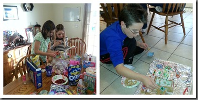 Gingerbread houses creating