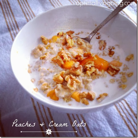 peaches and cream oats