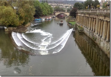 pulteney weir from cafe