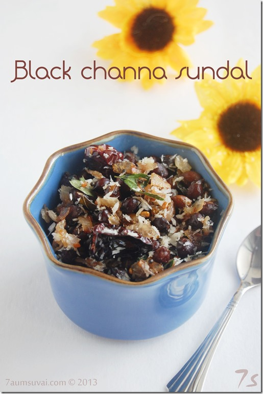 Black channa sundal