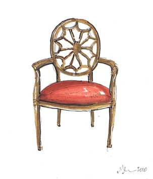 french back chair a