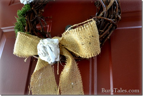 Burlap wreath bow