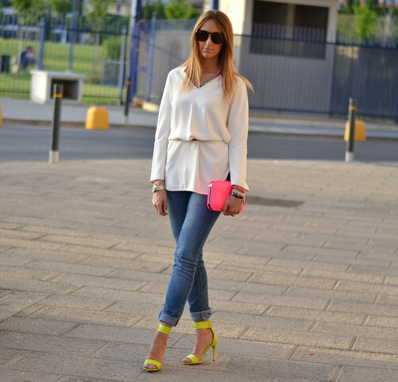 neon, zara, h&m, outfit, blogger, fashion blogger, italian fashion blogger, cheap monday