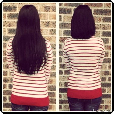the ladida Pantene Beautiful Lengths Donation - Before and After