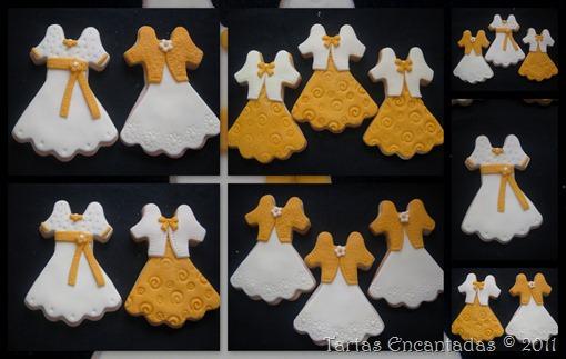 galletas vestidos y zapatos