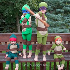 TMNT Teenage Mutant Ninja Turtles Costume sew a straight line-1