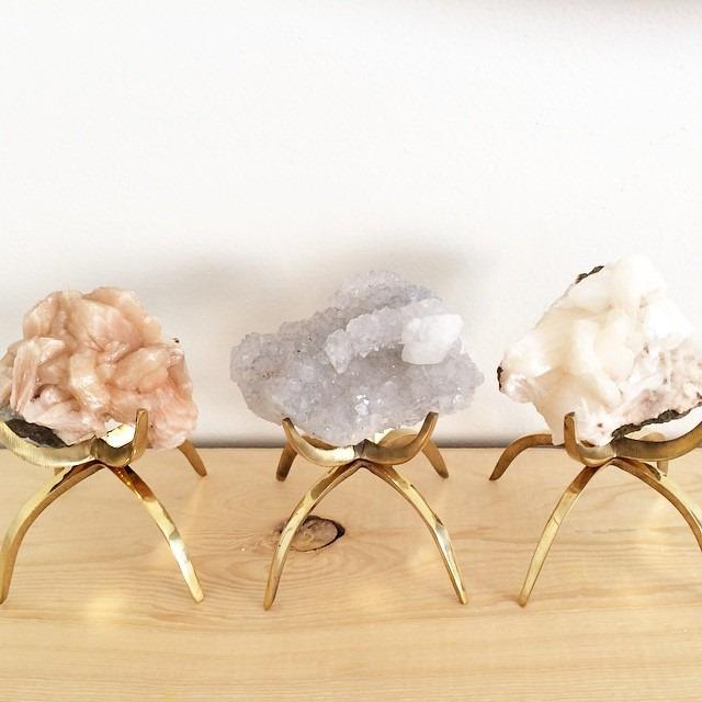 thriftscorethursday lightglassandtrend vintage brass mineral holders