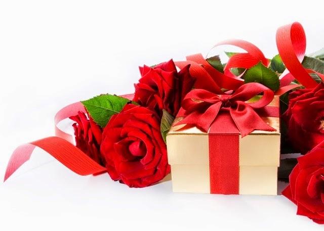 rosas vermelhas presente