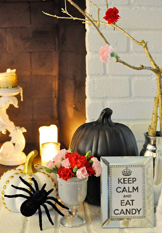 How to Paint a Brick Fireplace & Create Your Own Mantel Shelf #DIY