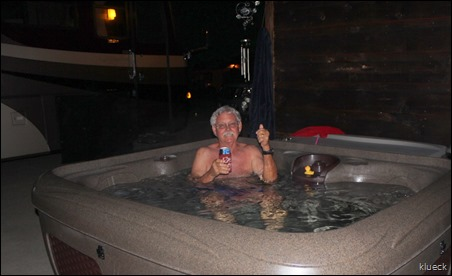 Al in hot tub