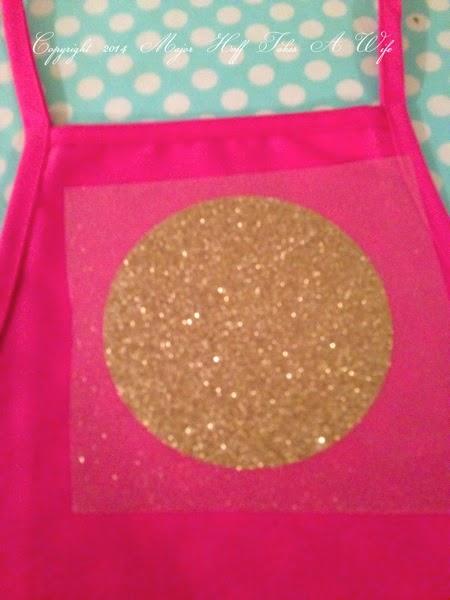 Using Iron on Cricut glitter material