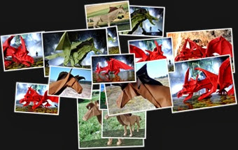 View Dragons and Horses Origami