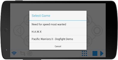 Screenshot of Mobile Gamepad - BETA