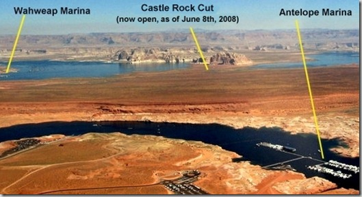 Antelope and Wahweap marinas Lake Powell