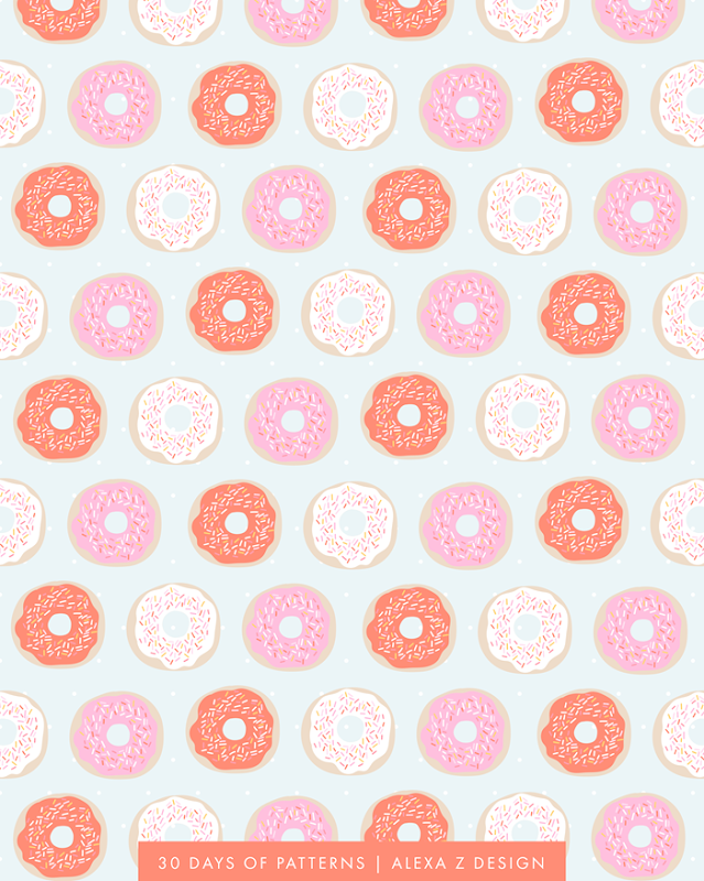 donut pattern 30 Days of Patterns Alexa Z Design